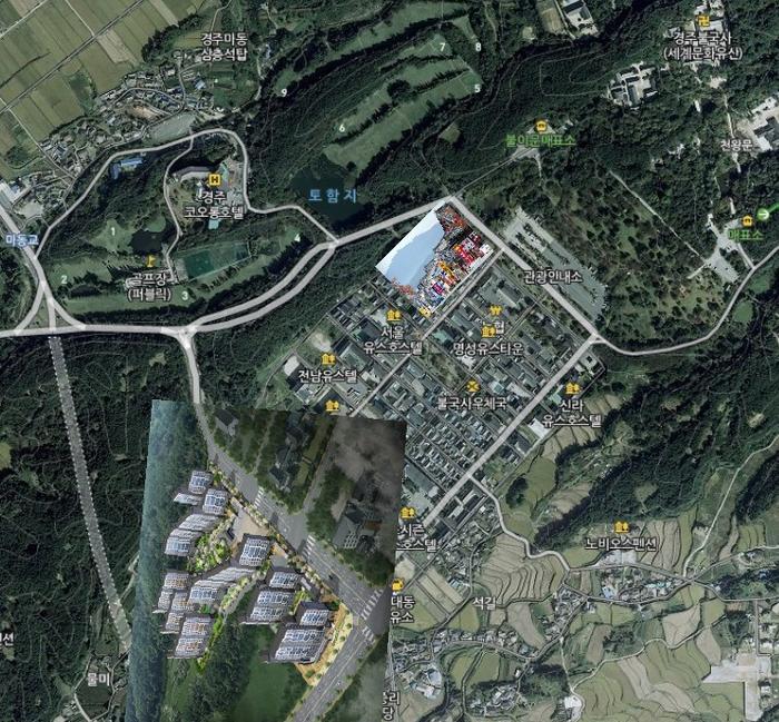 경주 위성사진