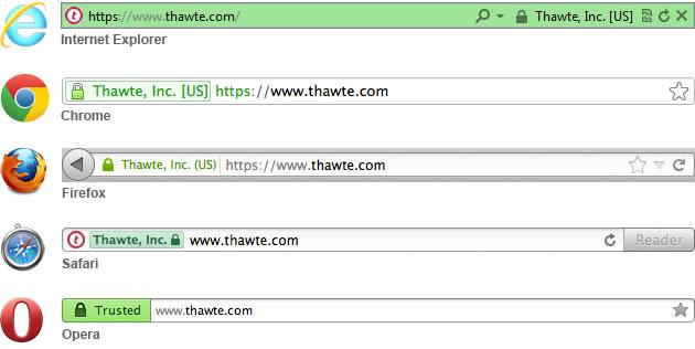 thawte SSL 적용 예시