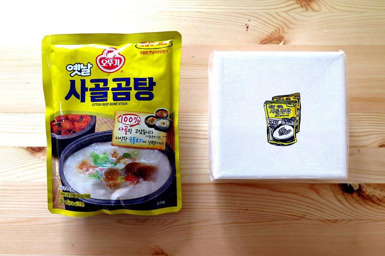[밥 먹고 가세요] 프로젝트에서 교환된 실제 음식재료와 음식재료가 그려진 작품 (사진 제공: 박혜민)