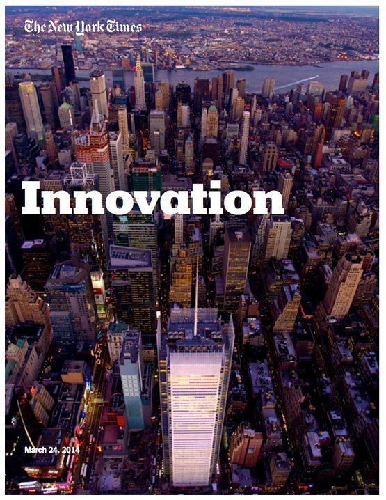 뉴욕타임스 혁신 보고서 표지