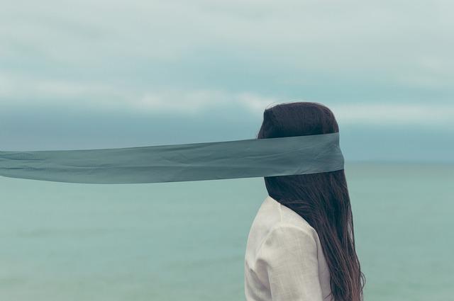 블라인드 외로움 여자 사람