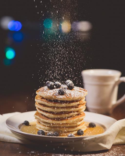 설탕 케이크 팬케이크