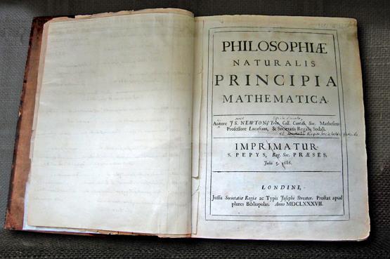 [자연철학의 수학적 원리] (라틴어: Philosophiæ Naturalis Principia Mathematica 필로소피아이 나투랄리스 프린키피아 마테마티카). 줄여서 [프린키피아] (Principia, 1687)