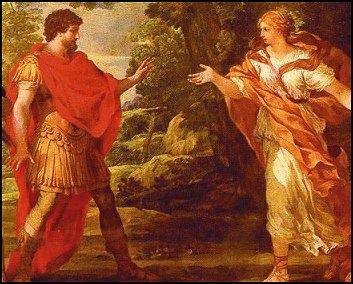 Athena appearing to Odysseu