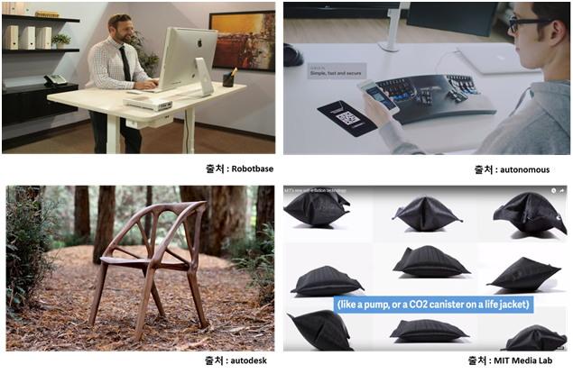 스마트 의자 및 책상 관련 제품들
