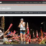 Photo of Melodie Cronenberg finishing the 2013 Ironman World Championship race, photo from Ironman.com