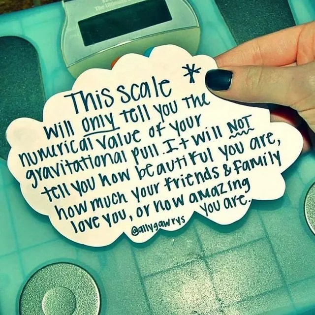 Don't Let a Scale Define Who You Are