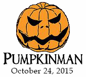 Pumpkinman Triathlon logo and 2015 date