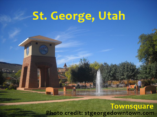 Color photo of Townsquare in St. George, Utah