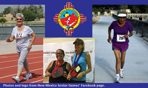 Photo compilation of athletes in New Mexico Senior Games