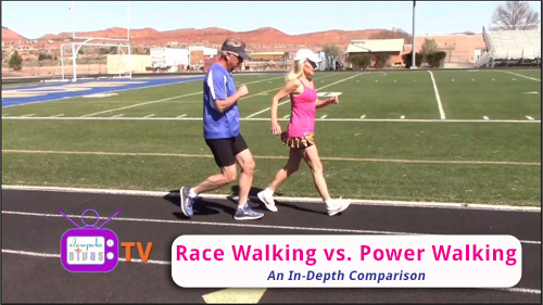 thumbnail image of Race Walking vs Power Walking video on YouTube