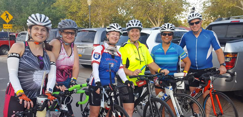 group photo of T3 Triathlon & Fitness members