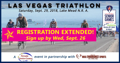 registration extended to Sept 26 for Nevada Senior Games triathlon