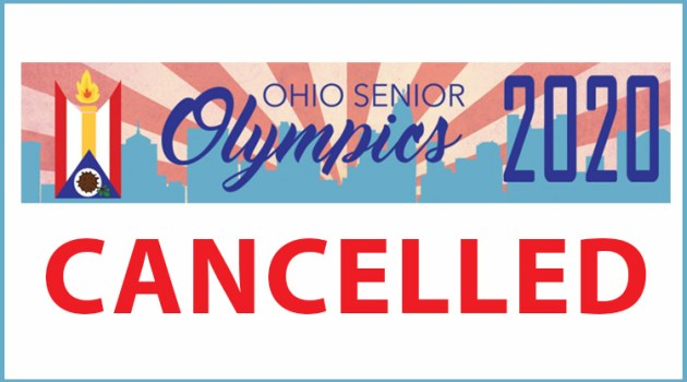 ohio senior games web banner, cancelled