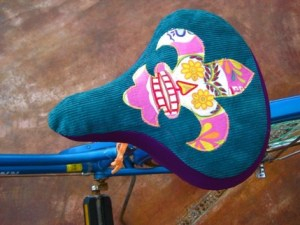 fleur de lis bicycle seat cover