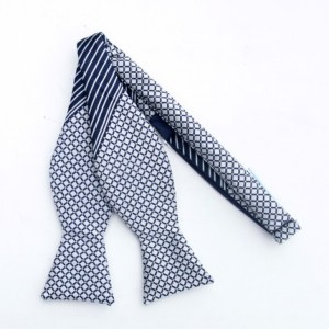 retro lattice freestyle bow tie