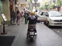Motorbike on Saigon Sidealks