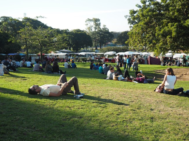 Green space provides a reprieve at the Recoleta Market in Buenos Aires