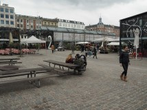 Torvehallerne interior markets in Copenhagen attached to great public space.