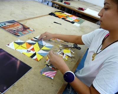 Slow Textiles Group patchwork event (designed, devised and delivered by Emma Neuberg)