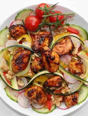marinated chicken salad in a honey and mustard dressing