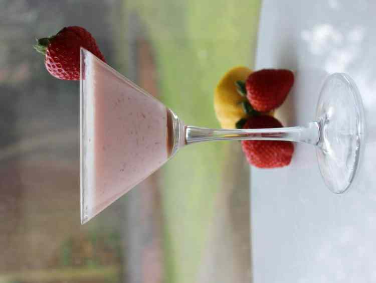 Strawberry and Cream Summer Cocktail