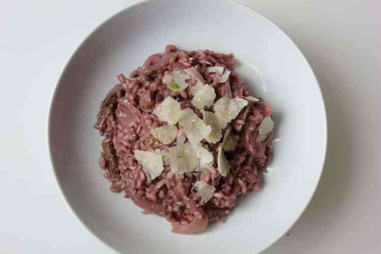 Risotto with Steak & Red Wine