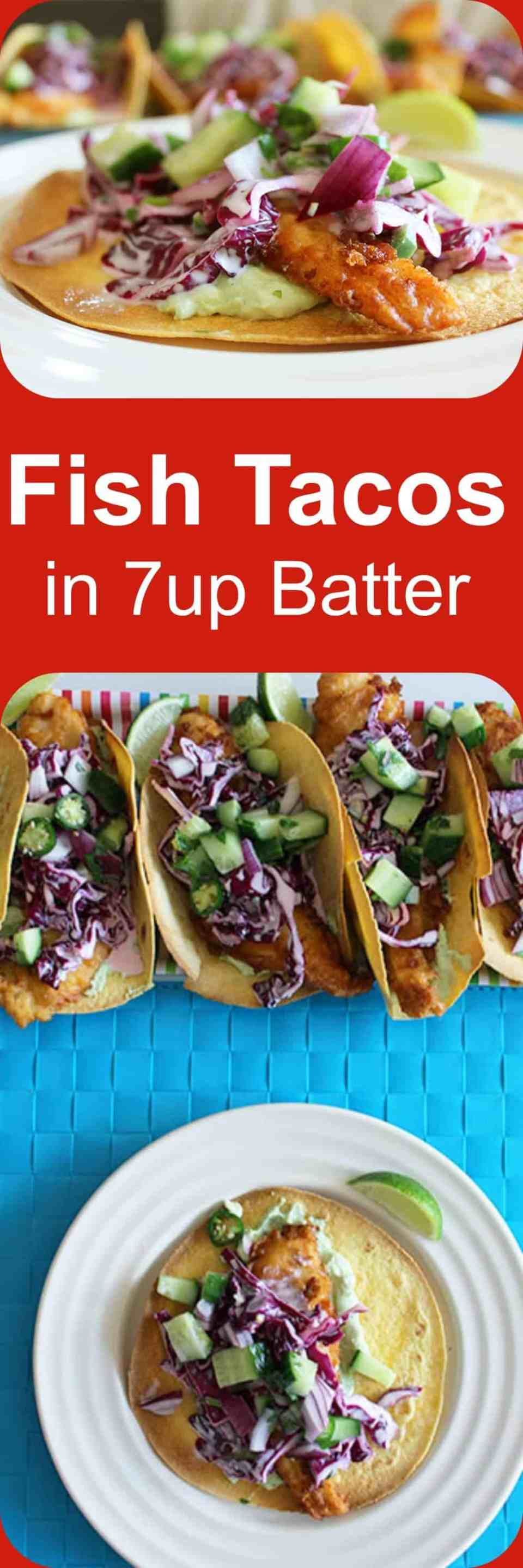 The batter on these fish tacos is so fresh and light!