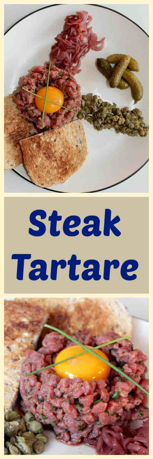 home meade steak tartare is much easier than you think. get that restaurant taste at home!