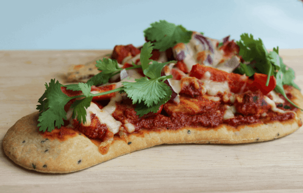 This Chicken Tandoori Naan Bread Pizza is super easy to make at home for a great takeaway alternative