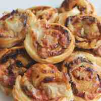 Puff Pastry Pinwheels with Bacon & Cheese