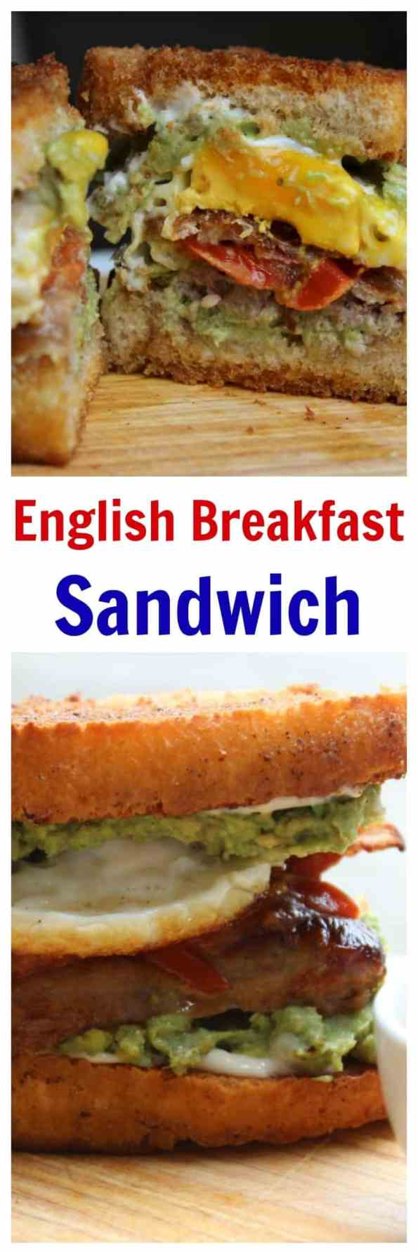 Fried Bread English Breakfast Sandwich. This full English breakfast in a sandwich is an indulgent way to start the day and banish a hangover! Ready in 30 minutes