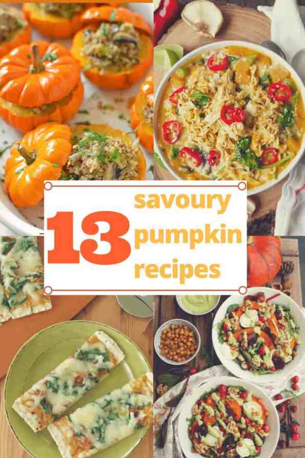 This collection of savoury pumpkin recipes is perfect for halloween and fall food inspiration. Whether you are looking for pumpkin pizza, pumpkin mac and cheese or an easy and quick salad, this collection will have something for everyone!