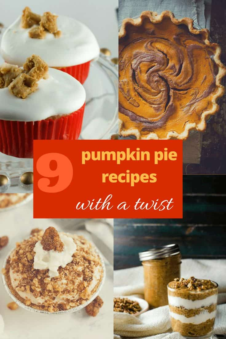 looking for pumpkin pie inspiration? Look no further! This list of pumkin pie recipes from food bloggers all have an interesting twist!