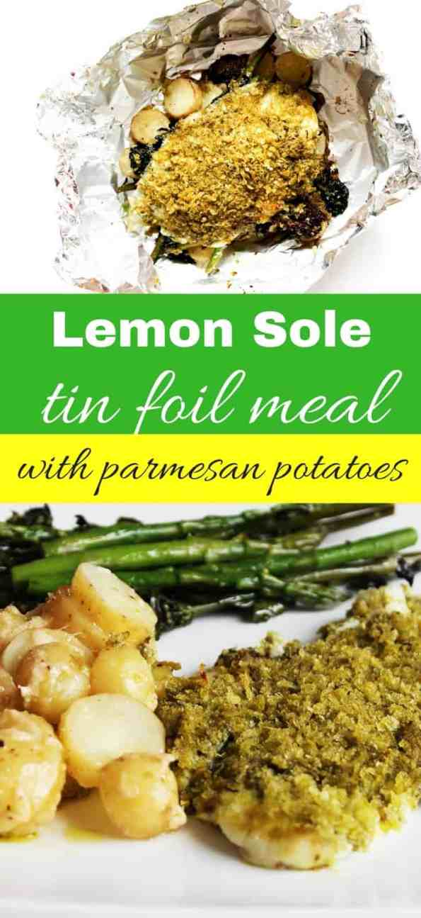 An easy and tasty weeknight meal. Lemon sole is paired with pesto and served alongside fresh greens and parmesan potatoes. Minimum prep and still super tasty!