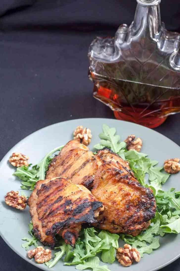 Maple & Apple Cider Glazed Chicken Thighs - Slow The Cook Down