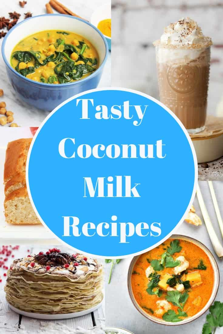 Pinterest image. Coconut milk recipes with text overlay