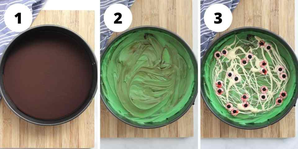 Three step by step photos to show how to make the recipe.