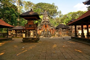 Main temple in the Monkey Forest