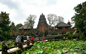 The Saraswati Temple in Ubud, Bali
