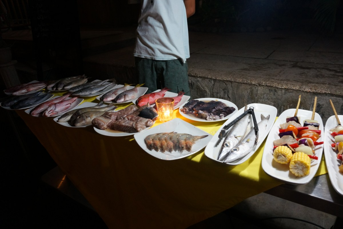 Grilled fresh fish at dinnertime