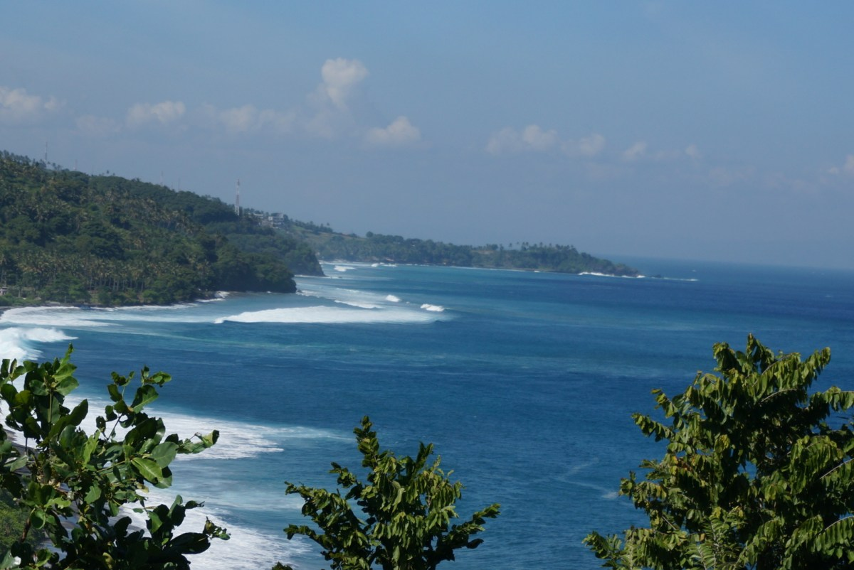 View of Lombok's west coast
