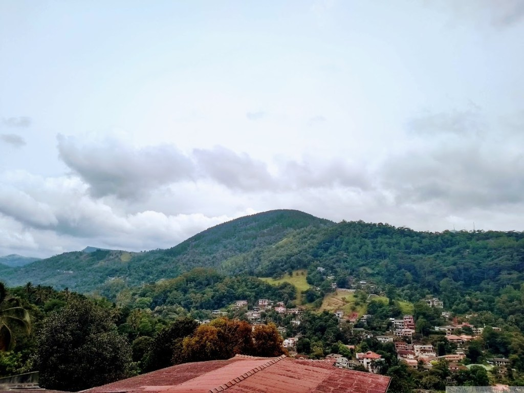 View from Mountain View homestay terrace, Kandy