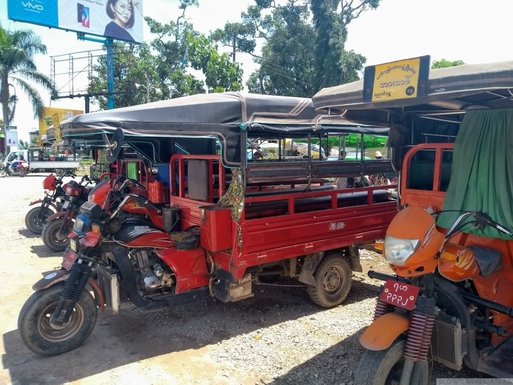 Motorcycle-truck taxi in Nyaung Shwe