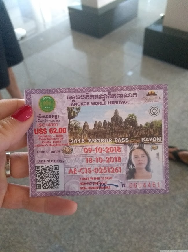 Angkor temples 3-day pass