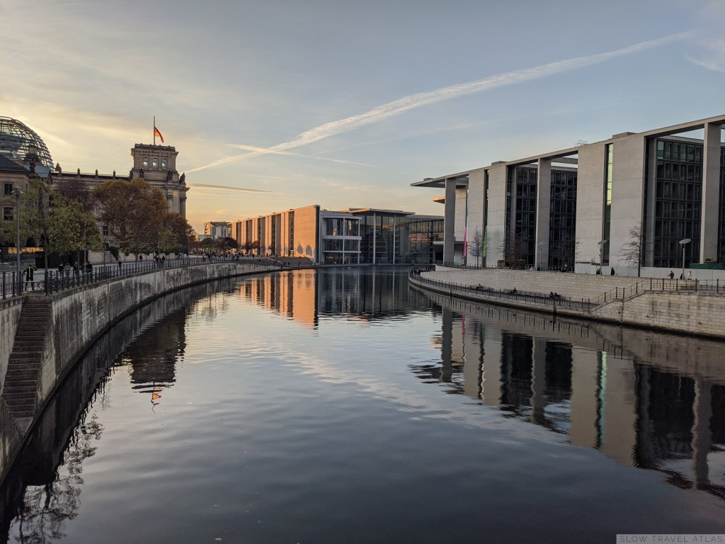 Berlin's government district, without tourists