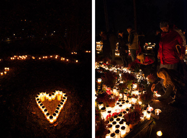 All Saints' Day at Skogskyrkogården - Photography by Lola Akinmade Akerstrom
