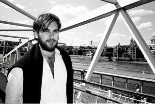The Editor of Uncommon: Stockholm, Erik Nordlander, travelling along the River Thames in London