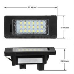 Bmw X5 E70 Tail Light Wiring Diagram Western Plow Controller 2x Error Free Led License Plate For E82 E88 E90