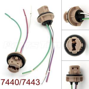 7443 Bulb Socket Brake Turn Signal Light Harness Wire LED